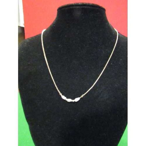 31 - Ladies 9 Carat Yellow Gold and Mother of Pearl Decorated Necklace of Attractive Form