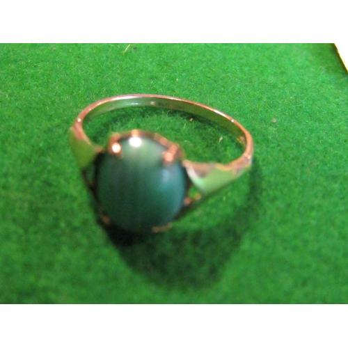 34 - Oval Cut Centre Stone Ladies Ring Mounted on 9 Carat Gold Size M...