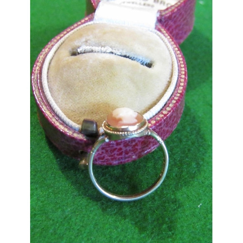 35 - Cameo Set 9 Carat Gold Ring Size M...
