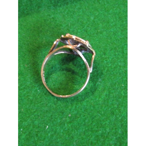 36 - 9 Carat Gold Signet Ring Set with Emperor Maximilano Coin