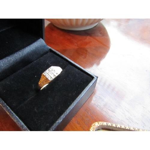 4 - 9 Diamond Set Ladies 9 Carat Gold Ring Size K...