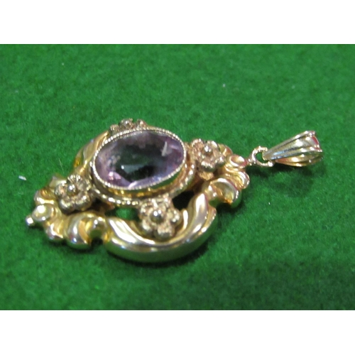 40 - 9 Carat Gold Ladies Pendant Set with Amethyst Stone of Attractive Colour...
