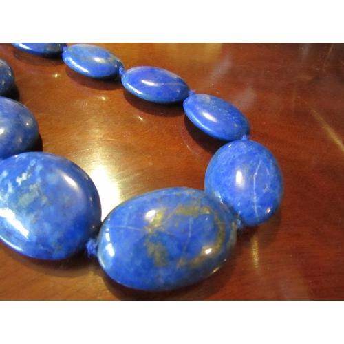 42 - Lapis Lazuli Ladies Necklace of Graduated Form Attractive Colour...