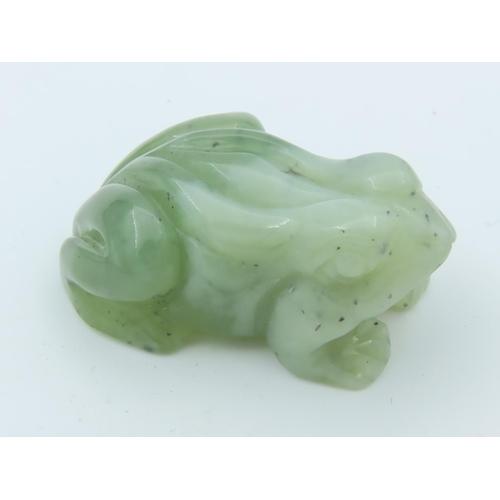 Jade Carved Figure of Frog