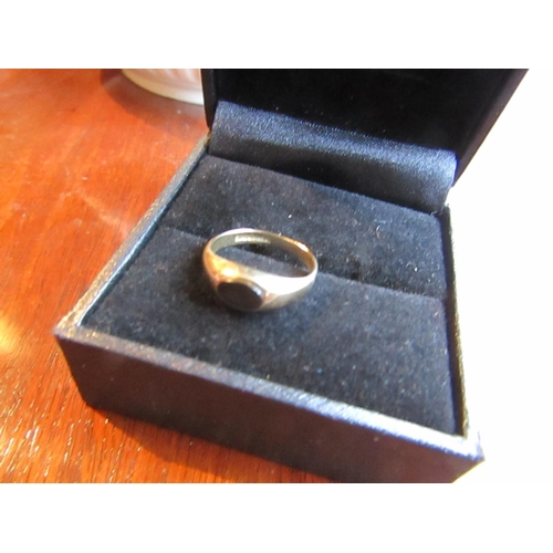 5 - Onyx Set Oval Cut Ladies Ring Mounted on 9 Carat Gold Ring Size E...