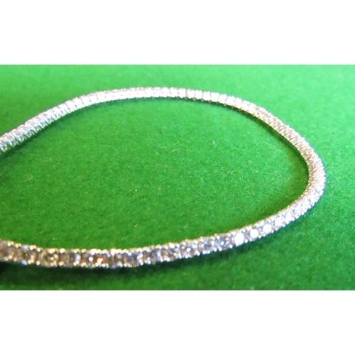 50 - Diamond Mounted Line Bracelet 3.05 Diamonds Mounted on 18 Carat White Gold Approximately 19cm Long S...