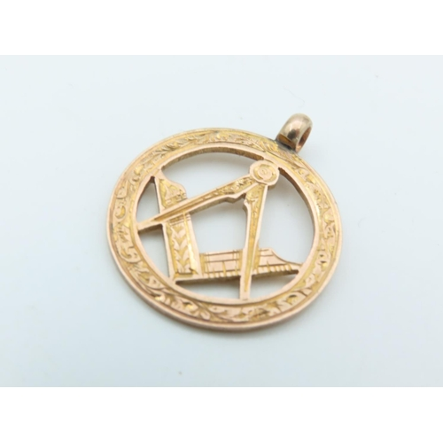 Another 9 Carat Yellow Gold Masonic Watch Fob