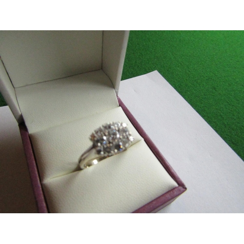52 - Ladies Diamond Brilliant Cut Ring Mounted on 14 Carat White Gold Approximately 1 Carat Total Diamond...