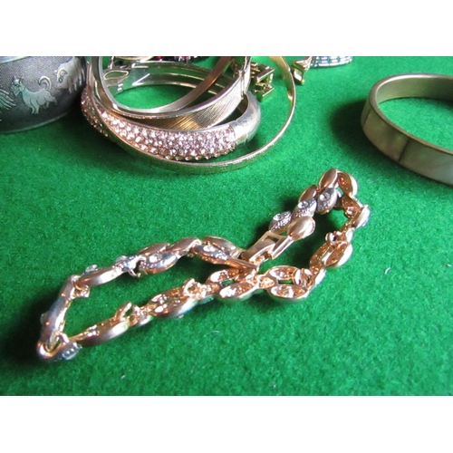59 - Collection of Various Jewellery including Bangles and Gold Filled Bracelet with Unusual Ladies Cuff ...