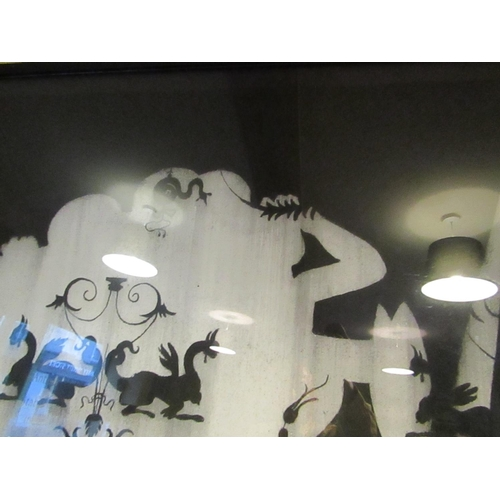 8 - Alice Maher Night Garden Series Charcoal on Paper Heavily Worked Approximately 6ft High x 4ft Wide E...