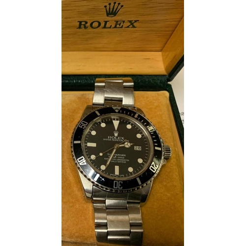Rolex Vintage Gentleman's Submariner Wristwatch with Case Original Condition Worn Regularly by the Vendor Until Two Years Ago When it Stopped Working Requires Service and Possible Repair