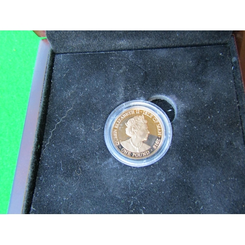 129 - Queens Coronation 65th Anniversary 1953-2018 Gold Coin with Certificate of Provenance within Origina...