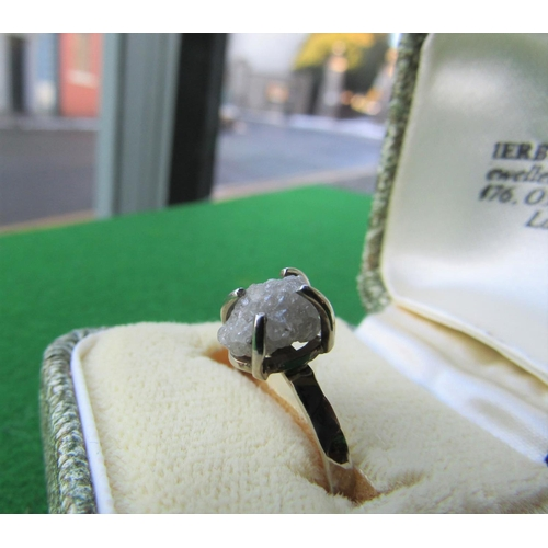131 - Uncut Diamond Mounted 14 Mounted White Gold Ladies Ring Size M...