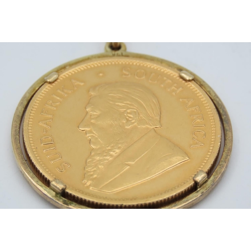 180 - South African Krugerrand Dated 1978 Set within 9 Carat Yellow Gold Mount with Pendant Attached...