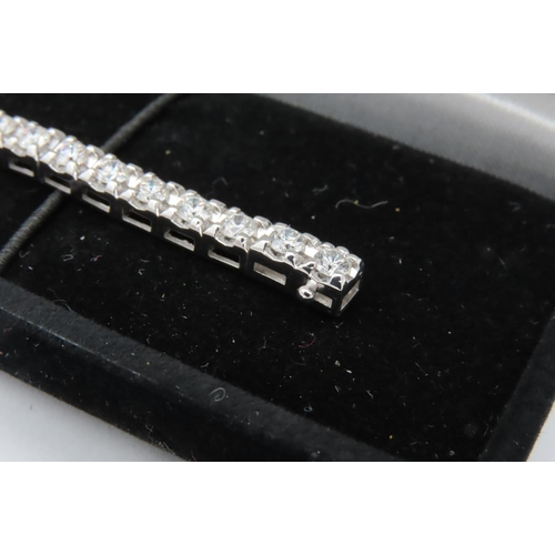 282 - Diamond Tennis Bracelet Approximately 4.5 Carats of Diamonds Mounted on 18 Carat Gold...