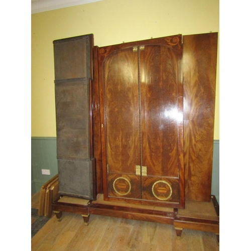 1 - Fine Antique Figured Mahogany Ormolu Mounted French Armoire 6ft 8 Inches Wide Complete with Cornice ...