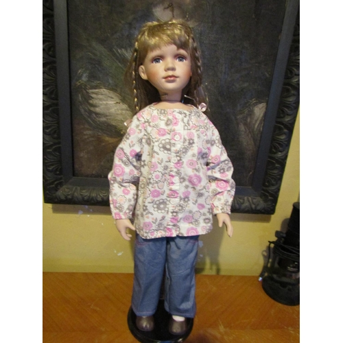Porcelain Head Doll Approximately 24 Inches High
