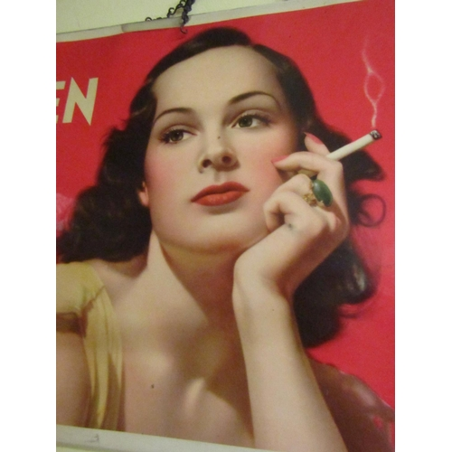 15 - Vintage Cigarette Advertising Sign Craven 'A' With Legend Will Not Affect Your Throat Approximately ...