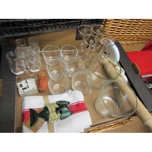25 - Collection of Various Crystal and Other Kitchenware Quantity As Photographed...