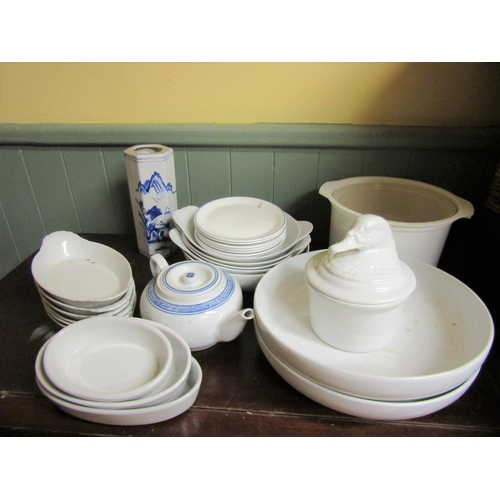 33 - Various Delphware Quantity As Photographed including Carry Basket...