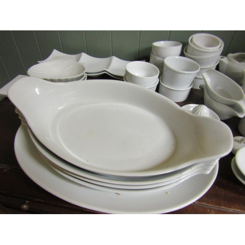 46 - Collection of Various Delph Quantity As Photographed including Serving Platters...