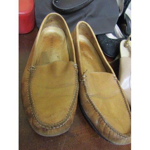 47 - Collection of Various Ladies Footwear including Ralph Lauren and Others and Three Ladies Leather Han...