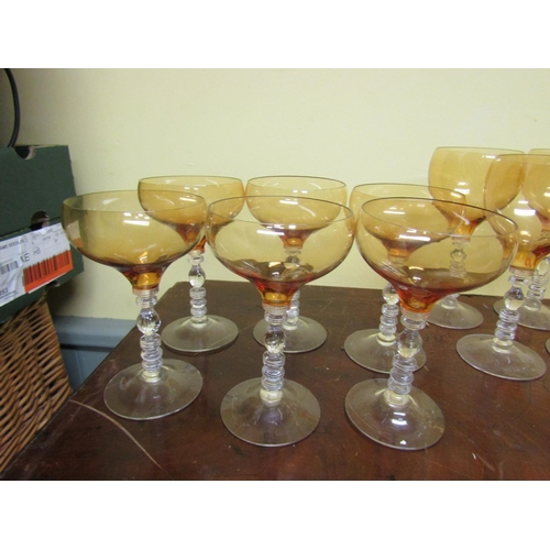 52 - Collection of Various Vintage Stem Glassware Quantity As Photographed...