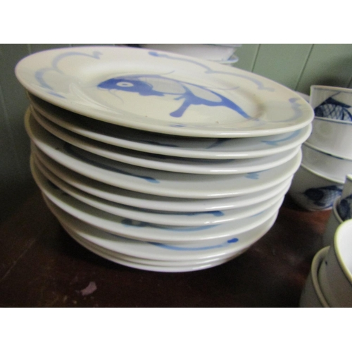 8 - Collection of Eastern Blue and White Tableware Attractive Form Quantity As Photographed including Ba...