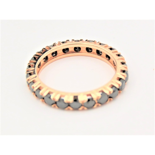 203 - Diamond Eternity Ring 18 Carat Yellow Gold Attractive Colour Ring Size J and a Half