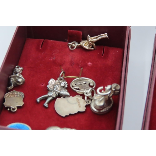 27 - Quantity of Various Silver Charms Vintage and Others Quantity As Photographed...