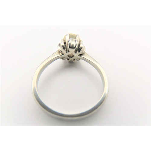 48 - Diamond Solitaire Ring Mounted on 18 Carat Yellow Gold Centre Stone Approximately .5 Carat Good Colo...