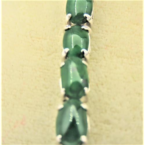 60 - Pair of Jade Set 18 Carat Gold Mounted Drop Earrings Each Approximately 4.5cm Long...