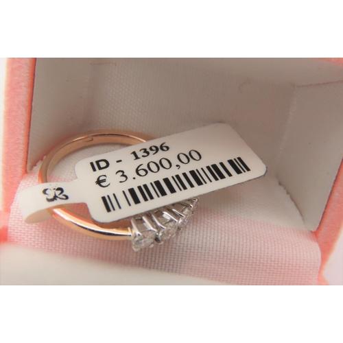 68 - Seven Stone Ladies Diamond Ring Set in 18 Carat White Gold Mounted on 18 Carat Yellow Gold Band Ring...