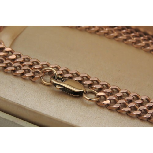 9 - 9 Carat Gold Curb Link Articulated Ladies Necklace of Good Weight 24 Inches Long...