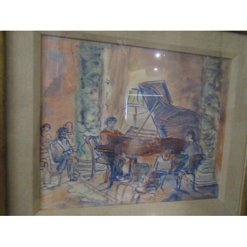 10 - Alicia Boyle (1908 -1997) The Rehearsal, Bantry House Watercolour Approximately 10 Inches High x 13 ...