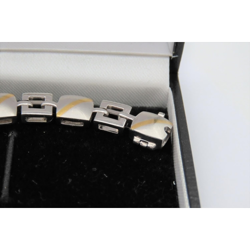 1102 - Ladies Diamond Set 18 Carat White Gold Bracelet of Attractive Design...