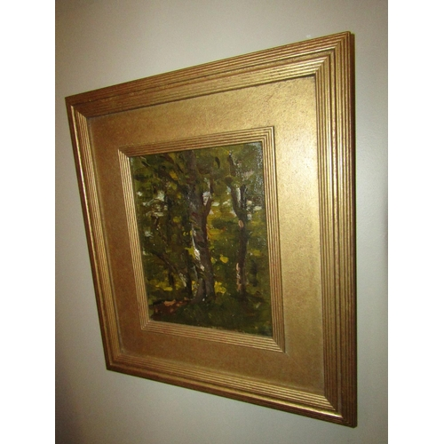 1396 - Nathaniel Hone RHA Tree Study Oil on Board Approximately 10 Inches High x 7 Inches Wide Purchased Go...