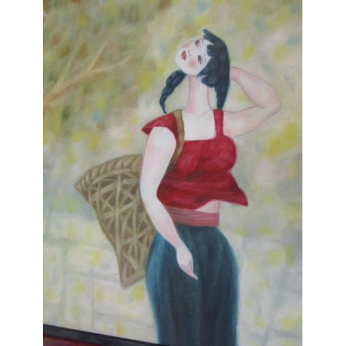 18 - Wu Miao (Mia) Goodbye to College Oil on Canvas 50cm High x 60cm Wide Signed Lower Right Commission f...