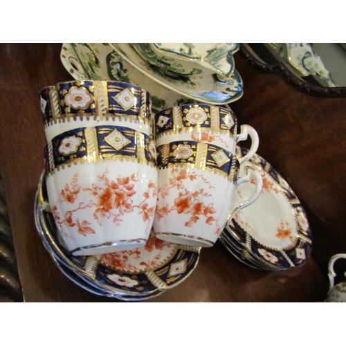 29 - Edwardian Fine Bone Tea Service with Gilded Decoration Quantity As Photographed...