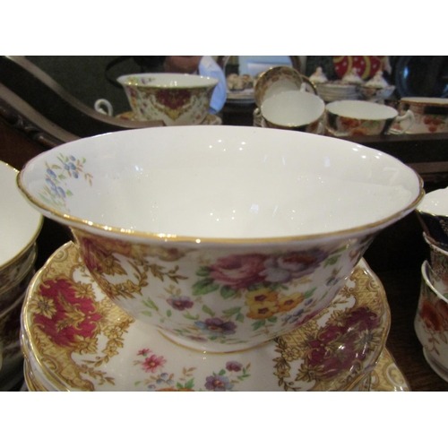 30 - Tuscan Fine English Bone China Part Tea Service Attractive Form with Floral Motif Decoration Good Co...
