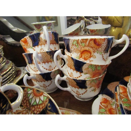 31 - Edwardian Fine Bone Tea Service including Sugar Bowl Serving Platters etc As Photographed Good Condi...