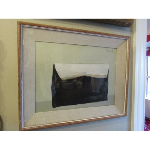 35 - Charles Brady RHA (1926-1999) Burnt Envelope Oil on Board Signed Approximately 12 Inches High x 16 I...