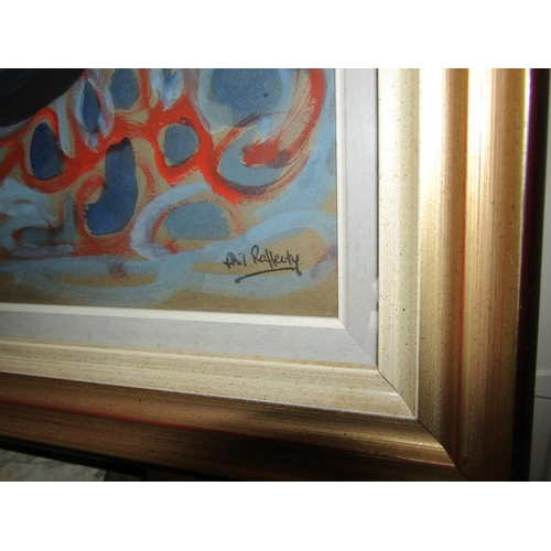 42 - Phil Rafferty Still Life with Pots Approximately 15 Inches High x 22 Inches Wide Signed Lower Right ...