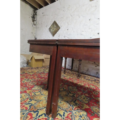54 - George III Irish Mahogany Foldover Tea Table with Unusual Foldout Supports Approximately 30 Inches W...