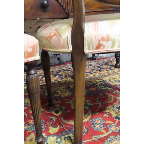 58 - Pair of Antique Mahogany Framed Shield Back Side Chairs with Finely Fluted Supports...