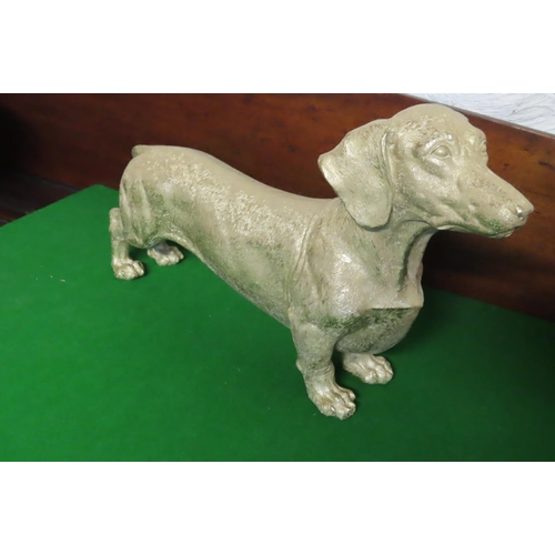 Gilt Decorated Dog Finely Detailed Approximately 16 Inches Wide x 11 Inches High