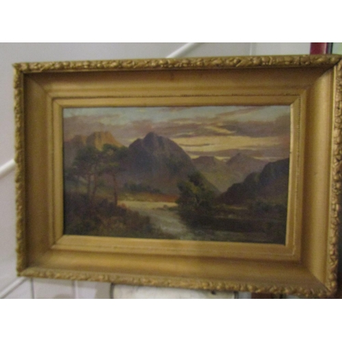 9 - William Trost Richards Victorian School On the Eve of Hencoe Oil on Canvas Approximately 30cm x 50cm...