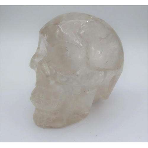 986 - Rock Crystal Carved Skull Approximately 3 Inches High...
