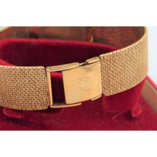 987 - Vintage Omega Wristwatch 9 Carat Gold Case Automatic Movement Date Aperture on Original 9 Carat Gold...