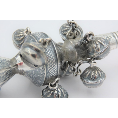988 - Coral Set Babies Rattle Cavalier Motif Approximately 5 Inches High...